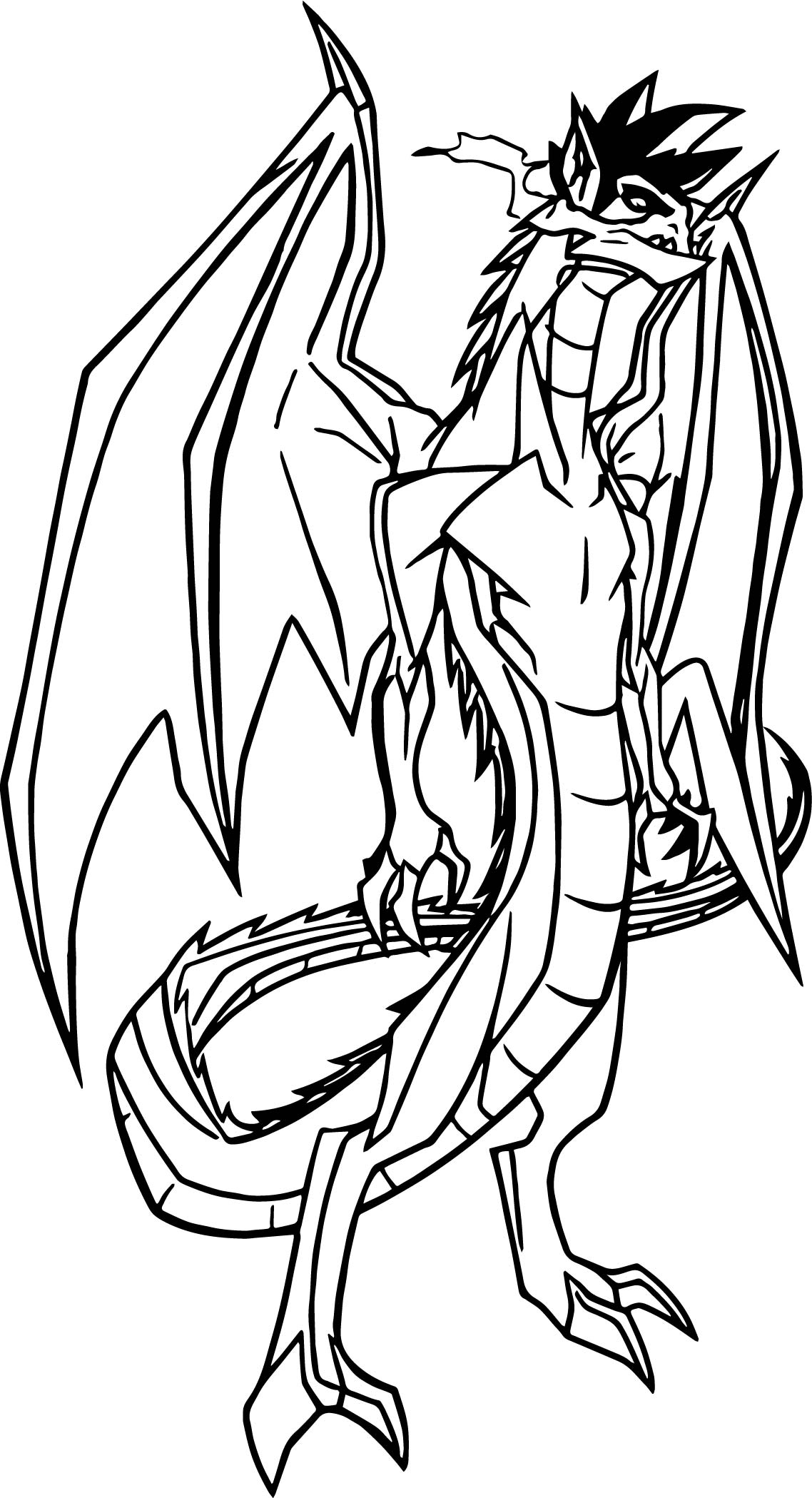 American Dragon Genrex Style Coloring Page