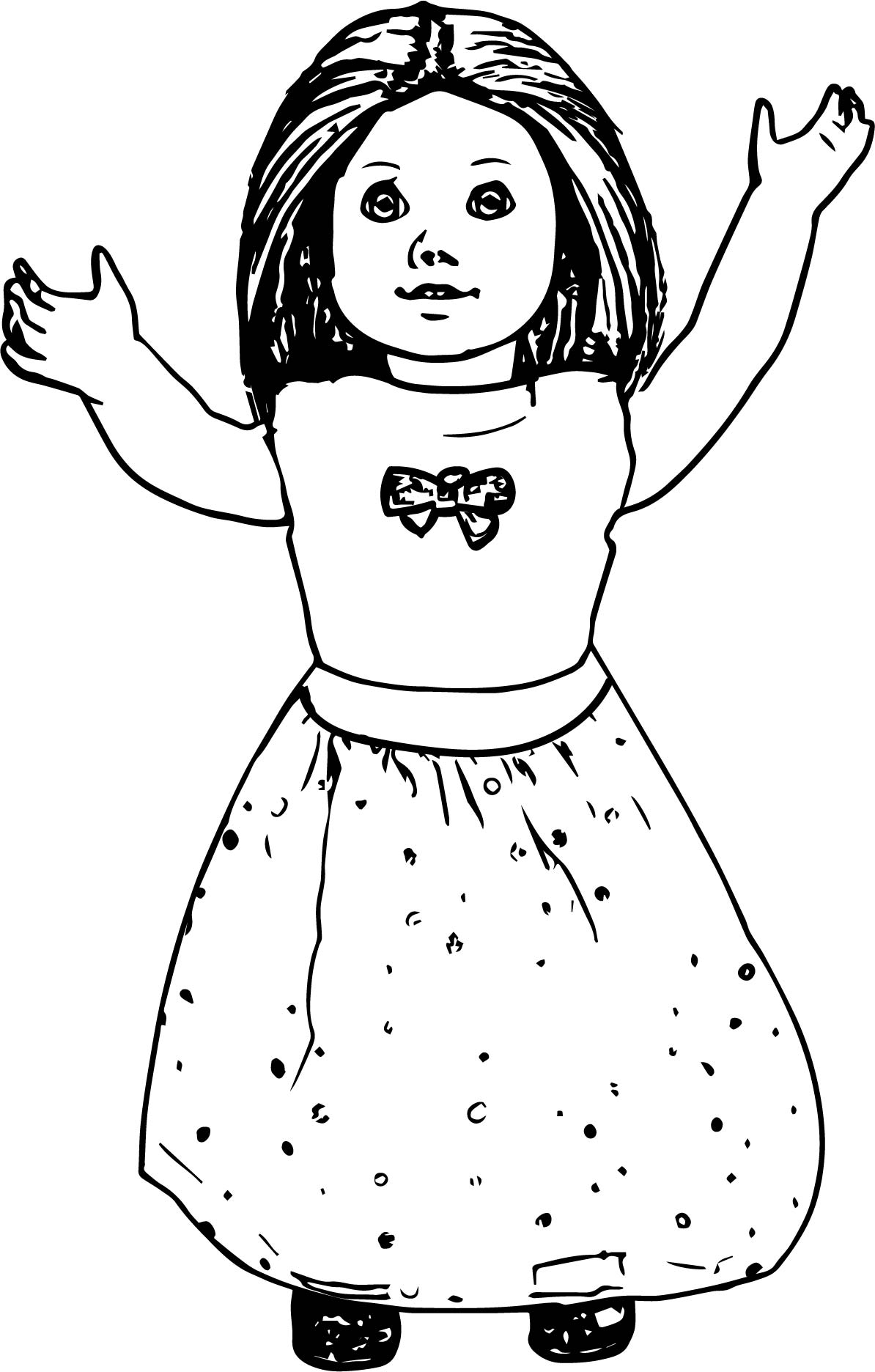 american girl doll coloring page american girl doll toy coloring page