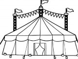 Amusement Circus Tent Coloring Page
