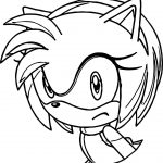 Amy Rose About Coloring Page