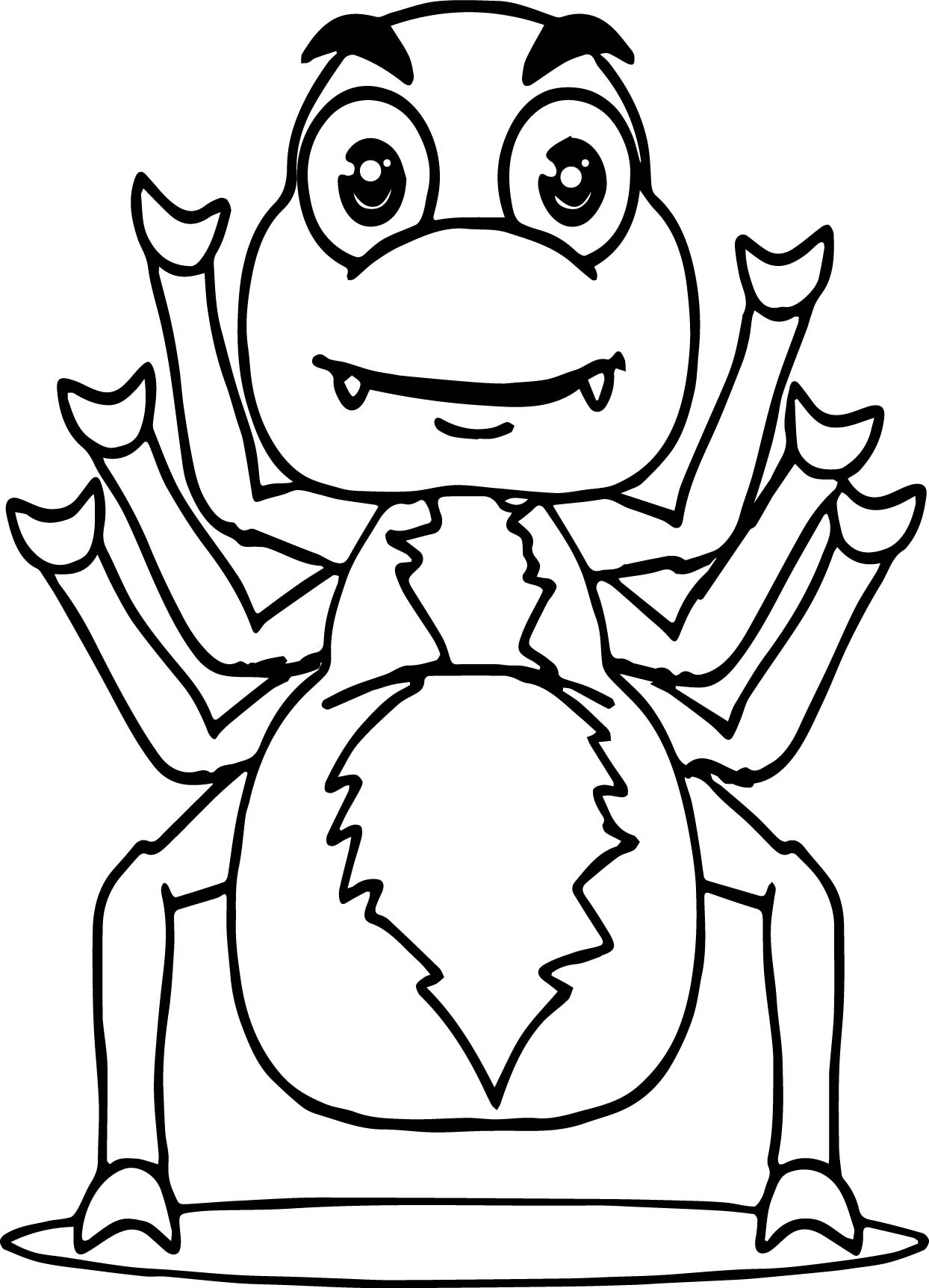 Anansi Six Hand Coloring Page