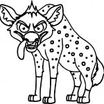 Angry Looking Hyena Cartoon Coloring Page