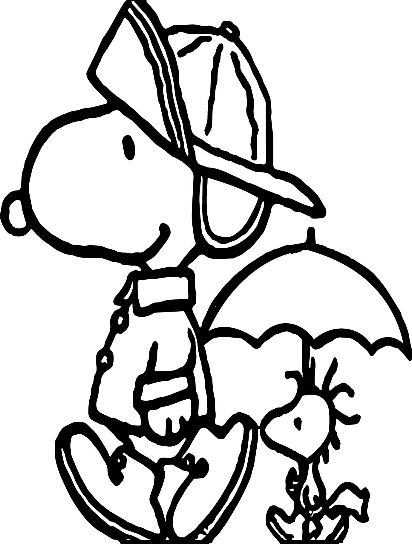 April shower snoopy coloring page for Snoopy coloring page