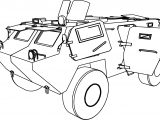 Armoured Car Tank Coloring Page