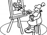 Art Class Painting Coloring Page