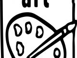 Art Color Sign Coloring Page