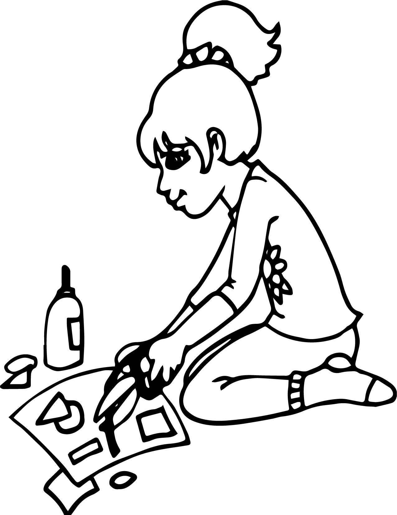 Art Crafts Coloring Page