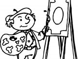 Art Painting Man Coloring Page