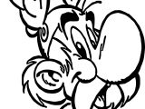 Asterix Face Coloring Page