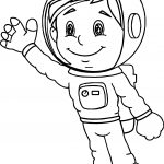 Astronaut Boy Coloring Page