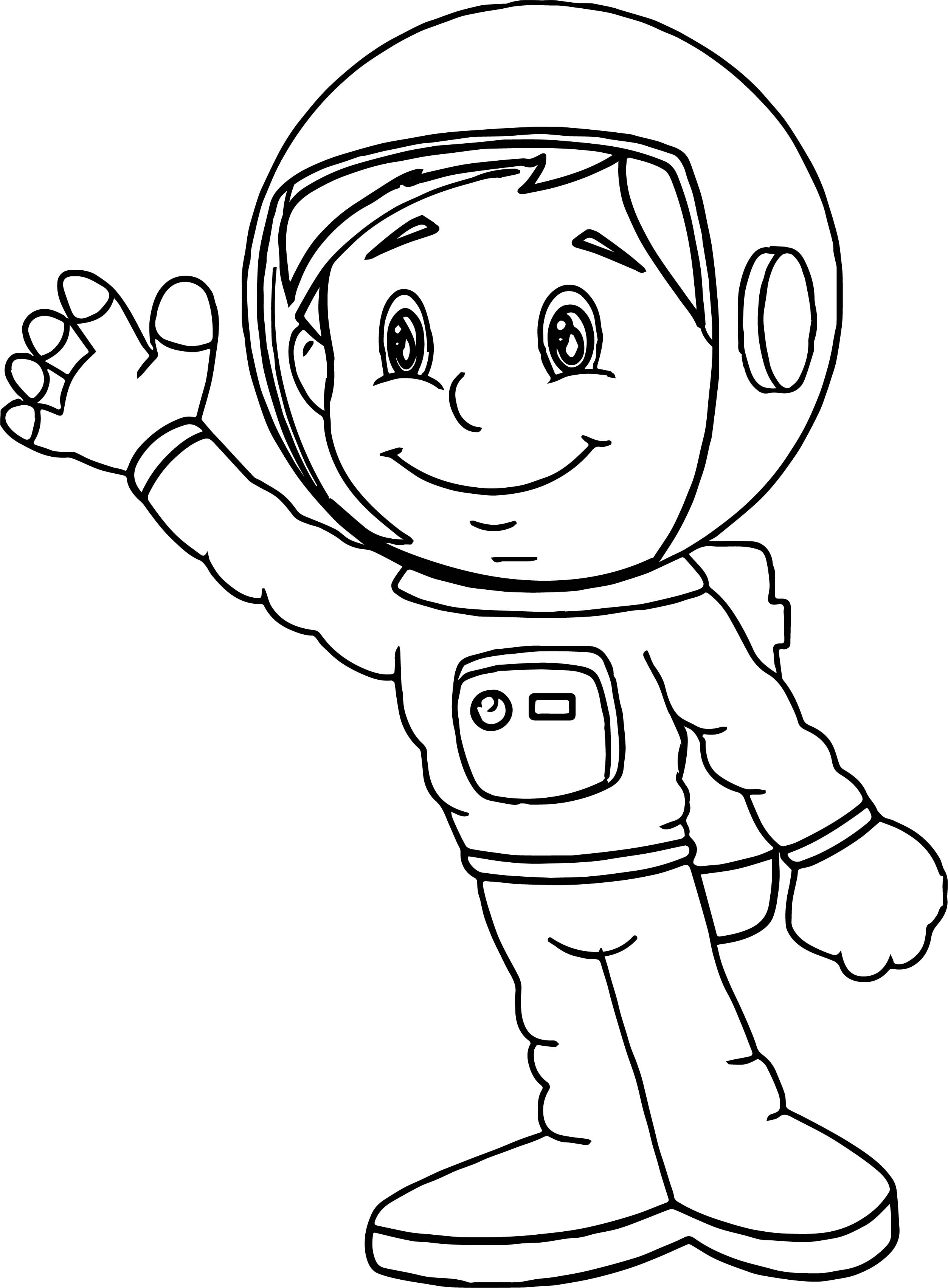 Astronaut - Free Coloring Pages