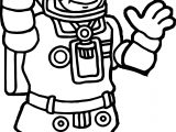 Astronaut Come Coloring Page