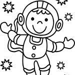 Astronaut Good Monkey Coloring Page