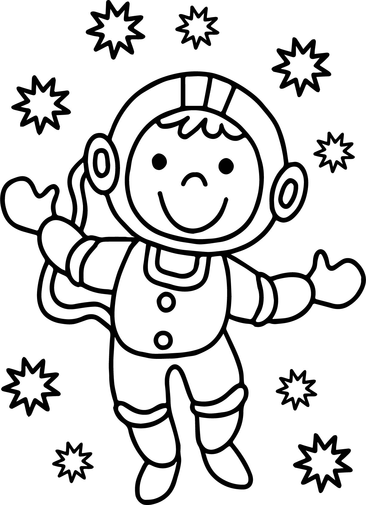 Astronaut Good Monkey Coloring Page Wecoloringpage