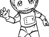 Astronaut Kid Coloring Page