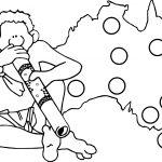 Australia Map And Man Aboriginal Coloring Page