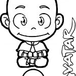 Avatar Aang Up Coloring Page