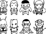 Avenger Chibs Assemble Coloring Page