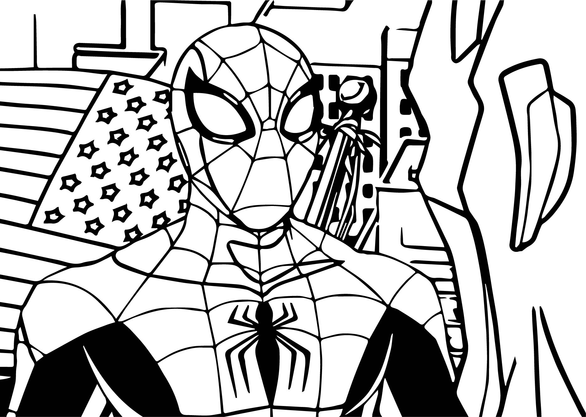 Avengers spiderman coloring page for Spiderman coloring book pages