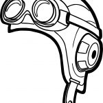 Aviator Hat Pilot Coloring Page