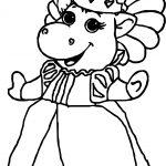 Baby Bop Princess Coloring Page