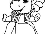 Baby Bop Princess Coloring Page