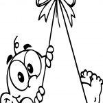 Baby Boy Cartoon Coloring Page