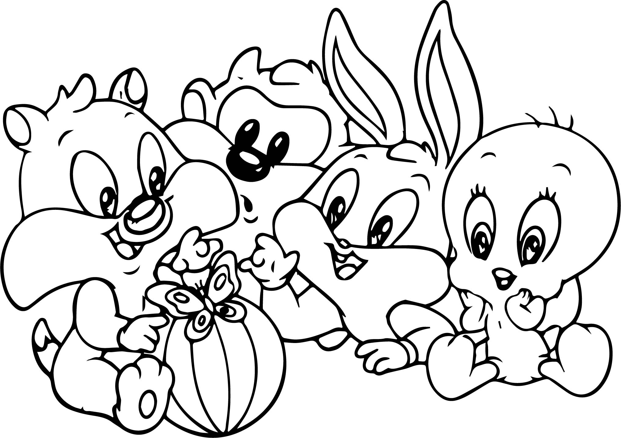 baby bugs bunny looney tunes cartoon coloring page