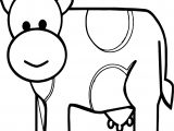 Baby Cow Farm Animal Coloring Page