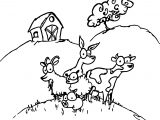 Baby Farm Animal Coloring Page