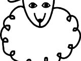 Baby Farm Animal Sheep Coloring Page