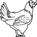 Baby Farm Cock Animal Coloring Page
