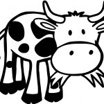 Baby Farm Cow Animal Coloring Page