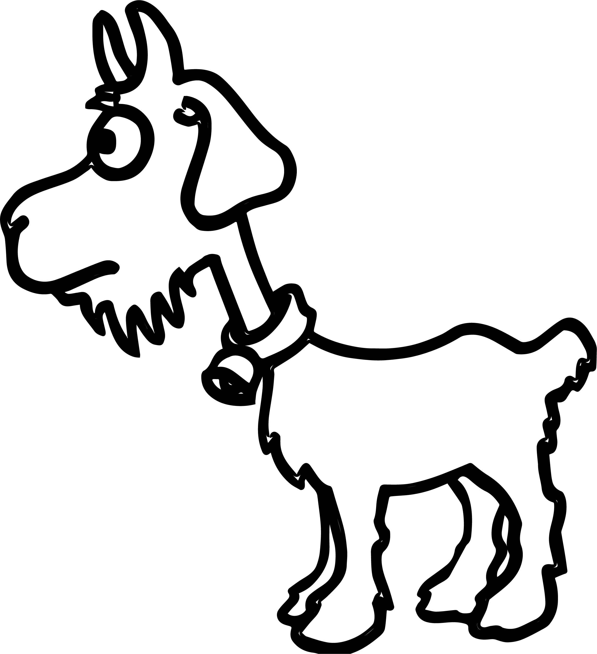 baby sheep coloring pages - baby sheep farm animal coloring page