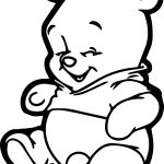 Baby Winnie The Pooh Very Comic Coloring Page