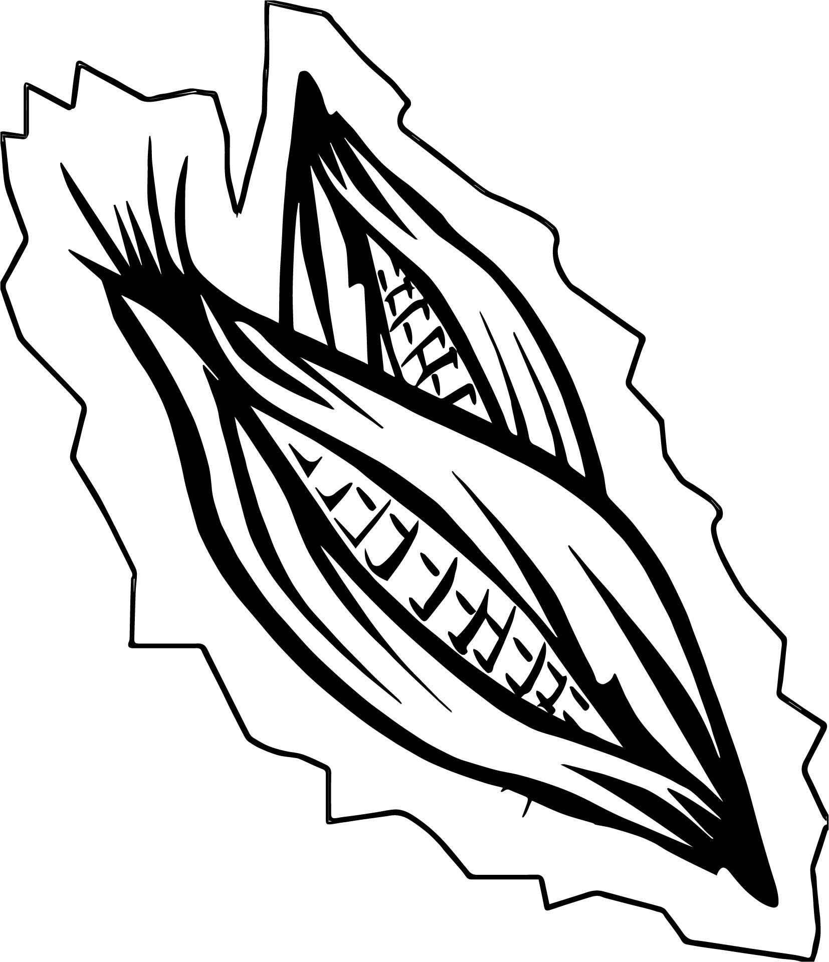 Basket Of Vegetables Corn Coloring Page