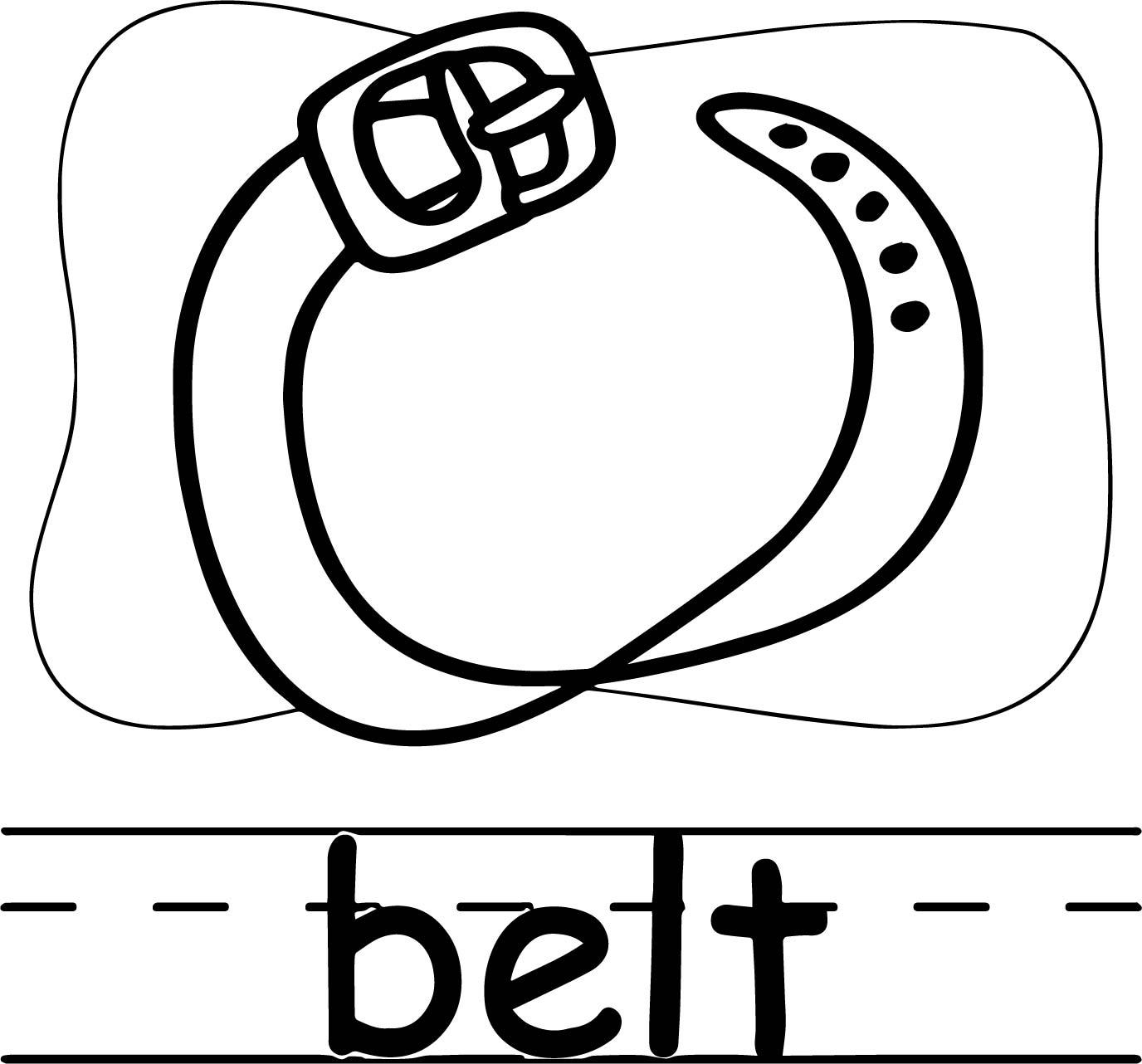 Belt Abc Teach Coloring Page