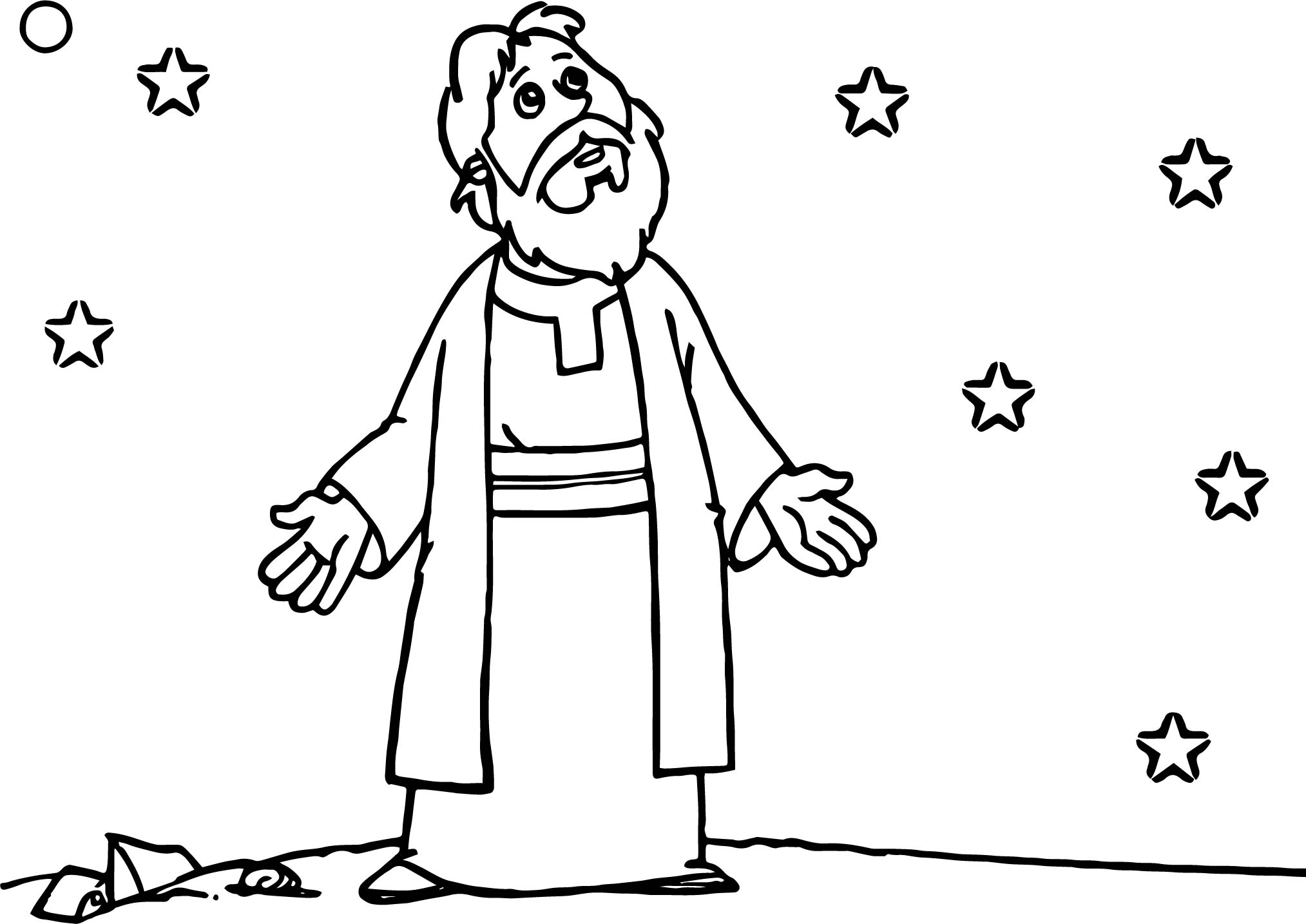 Biblical Abraham And Sarah Night Coloring Page ...