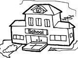Big School Building Coloring Page