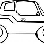 Big Toy Car Coloring Page