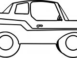 Big Toy Car Coloring Page