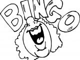 Bingo Activity Coloring Page