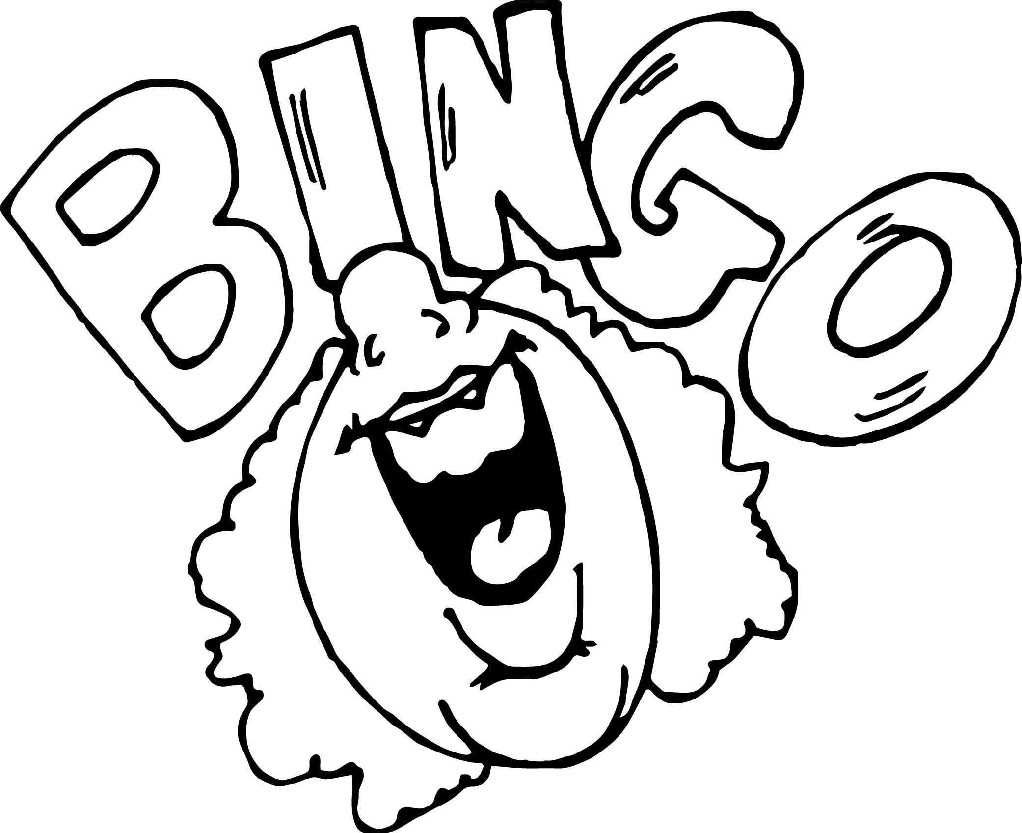 Bingo Activity Coloring Page