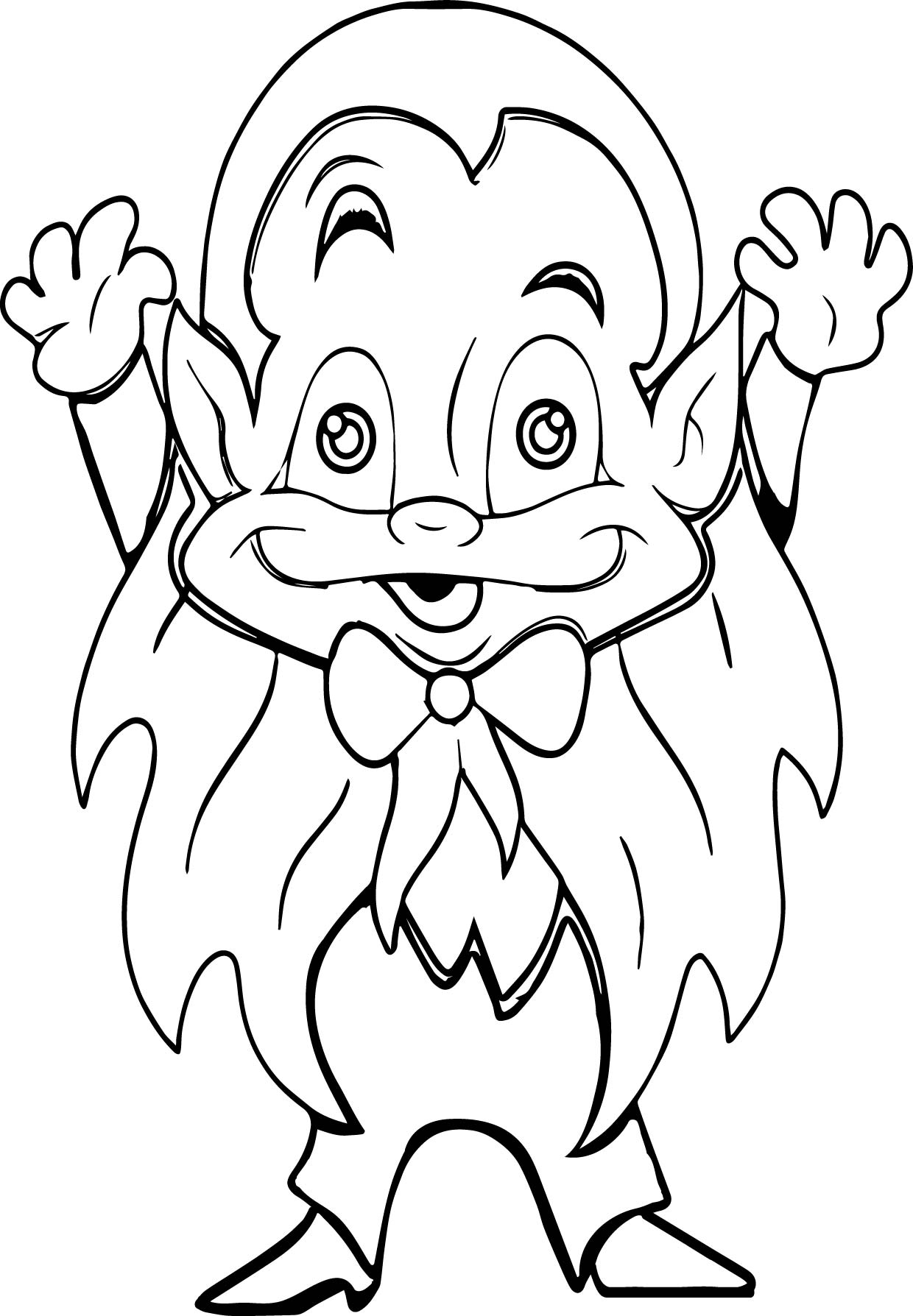 Boo Vampire Coloring Page