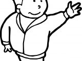 Boy Hi People Free Coloring Page