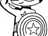 Captain America Child Cartoon Coloring Page