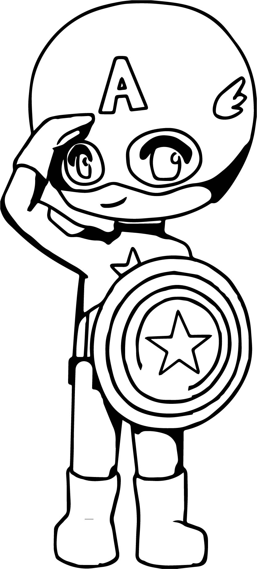 captain america child cartoon coloring page wecoloringpage