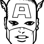 Captain America Face Coloring