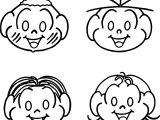 Carinhas Turma Da Monica Face Coloring Page