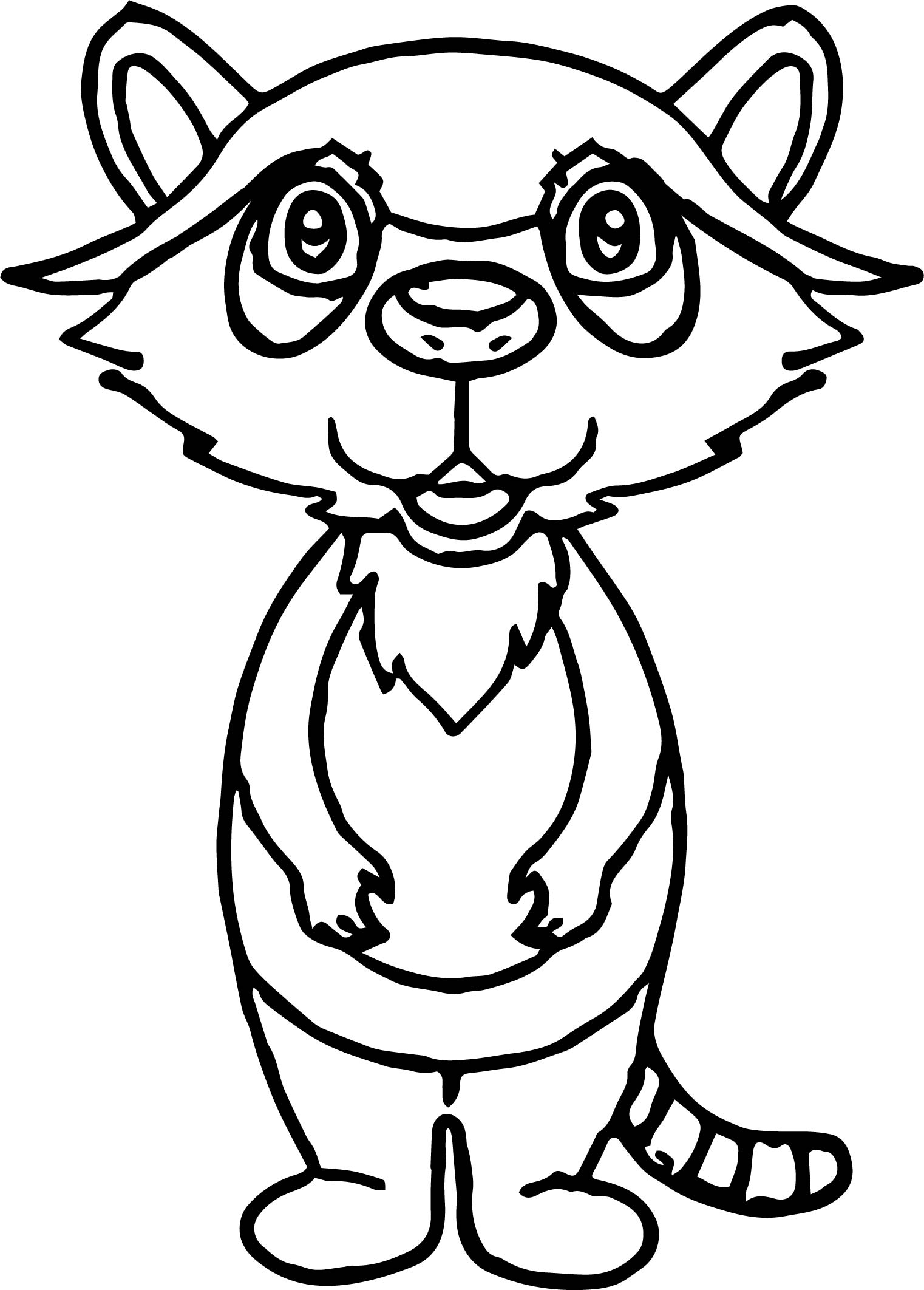 Raccoon Face Page Coloring Pages